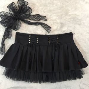 Royal Bones Mini Skirt